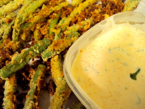 green bean fries recipe with spicy ranch recipe